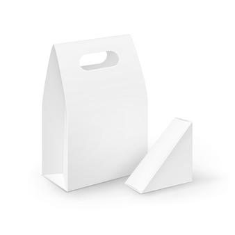 Zestaw pudełek na lunch z pustymi uchwytami