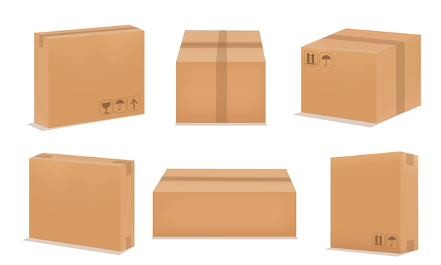 Zestaw pudełek papierowych