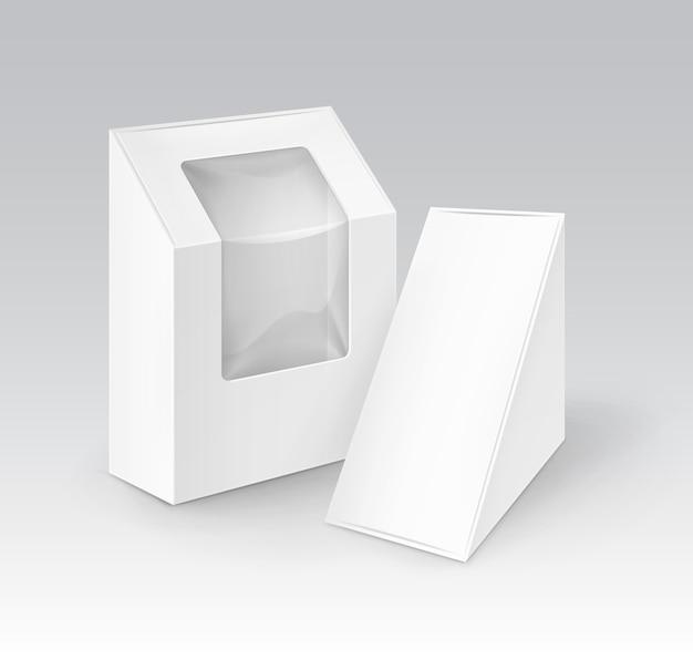 Zestaw pudełek tekturowych na żywność, prezent z okienkiem