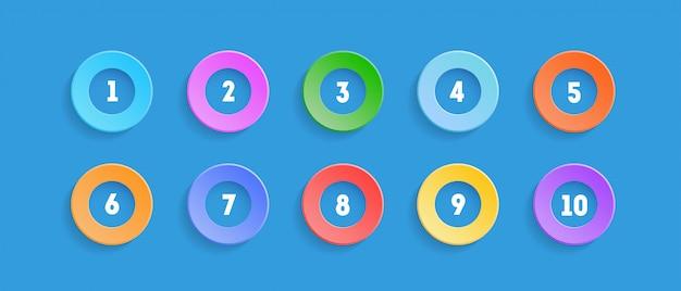 Zestaw punktora z numerami