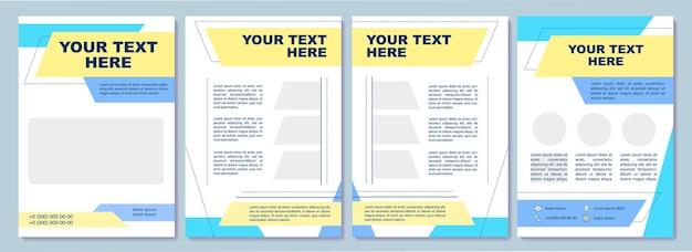Zestaw pusty szablon broszury jasny