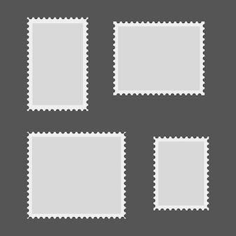 Zestaw pusty znaczek pocztowy