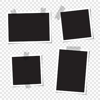 Zestaw pustych zdjęć do kolażu.