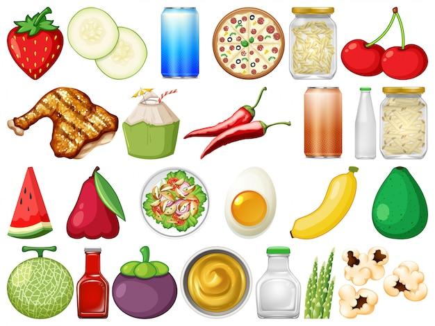 Zestaw pysznego jedzenia