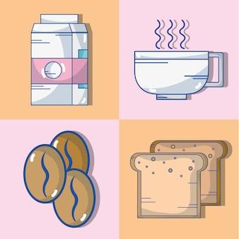 Zestaw pysznej kawy o zróżnicowanym smaku
