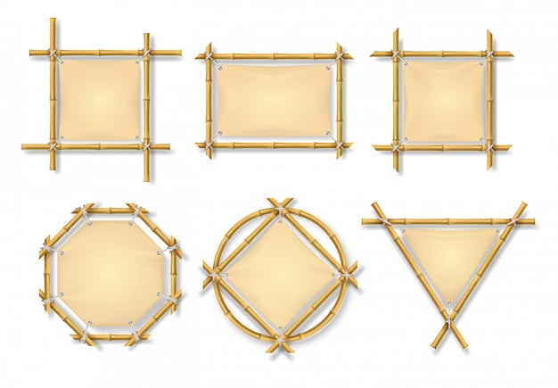 Zestaw ramek bambusowych