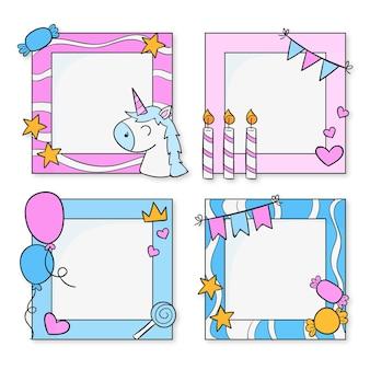 Zestaw ramek do kolażu na urodziny