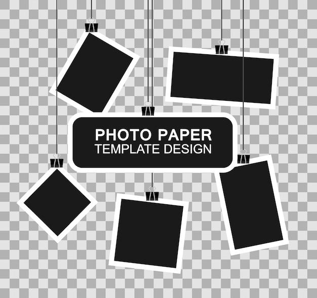 Zestaw ramek do zdjęć. realistyczne szczegółowe zdjęcie