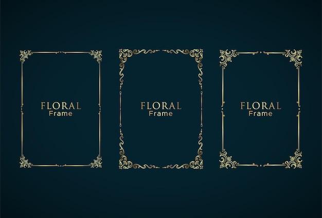 Zestaw ramek elegand z kwiatowym ornamentem