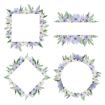 Zestaw ramek fioletowy kwiat