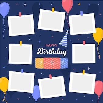 Zestaw ramek kolaż urodzinowy