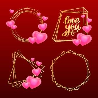 Zestaw ramek valentine