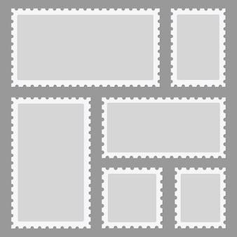Zestaw ramek znaczków pocztowych
