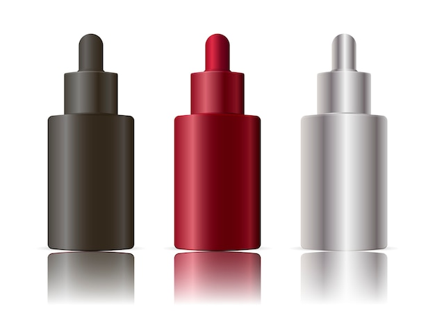 Zestaw realistyczne plastikowe butelki kroplomierzem