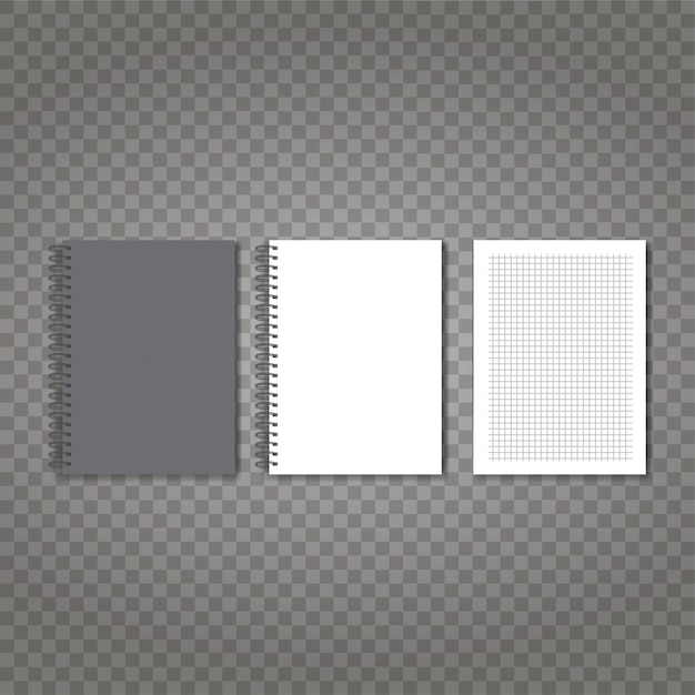 Zestaw realistyczne wektor notebook