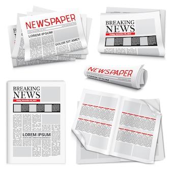 Zestaw realistyczny gazety