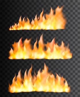 Zestaw realistyczny płomień ognia