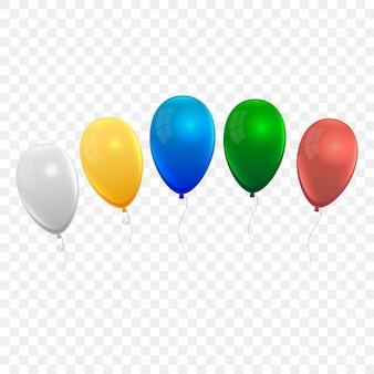 Zestaw realistycznych balonów powietrznych