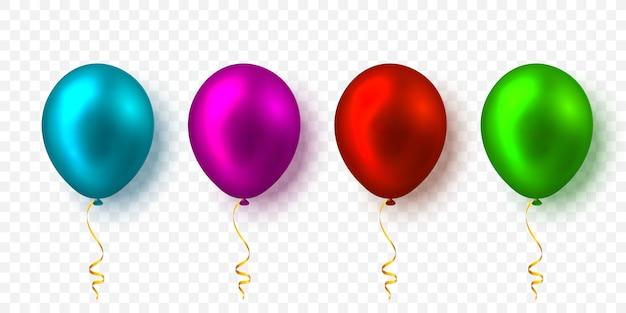 Zestaw realistycznych balonów z cieniem