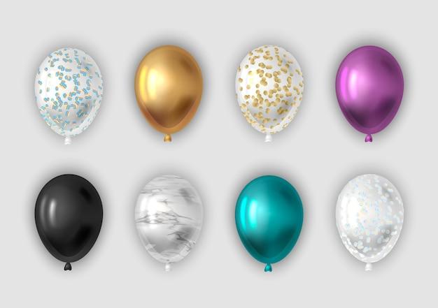 Zestaw realistycznych balonów.