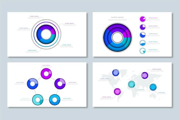 Zestaw realistycznych diagramów ciężkich kulek