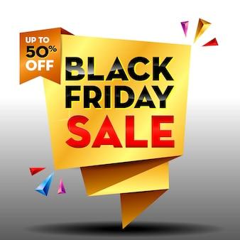 Zestaw realistycznych dużych banerów sprzedaży lub szablonów banerów oferta specjalna lub baner rabatowy na czarny piątek