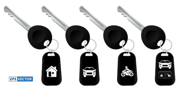 Zestaw realistycznych kluczyków samochodowych z alarmem lub kluczyków samochodowych z pilotem lub pilotem samochodowym