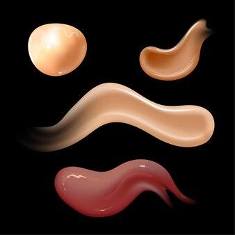 Zestaw realistycznych kremów kosmetycznych