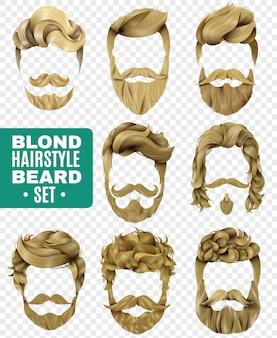 Zestaw realistycznych męskich fryzur