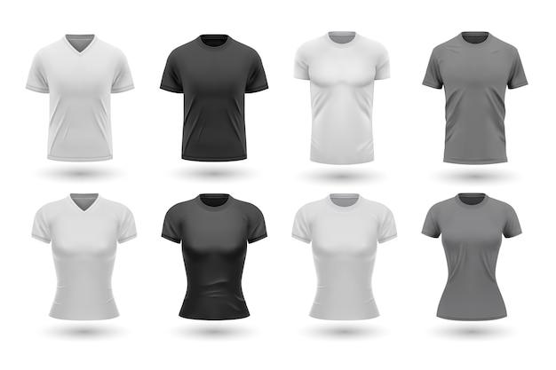Zestaw realistycznych męskich koszul.