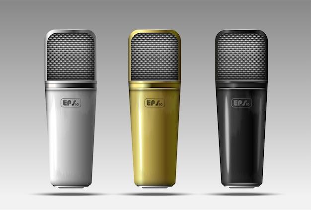 Zestaw realistycznych mikrofonów