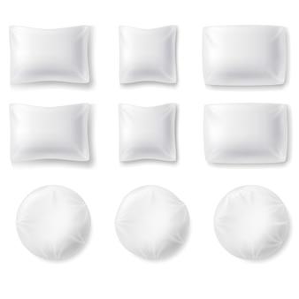 Zestaw realistycznych poduszek