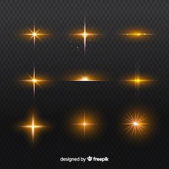 Zestaw realistycznych serii efektów świetlnych