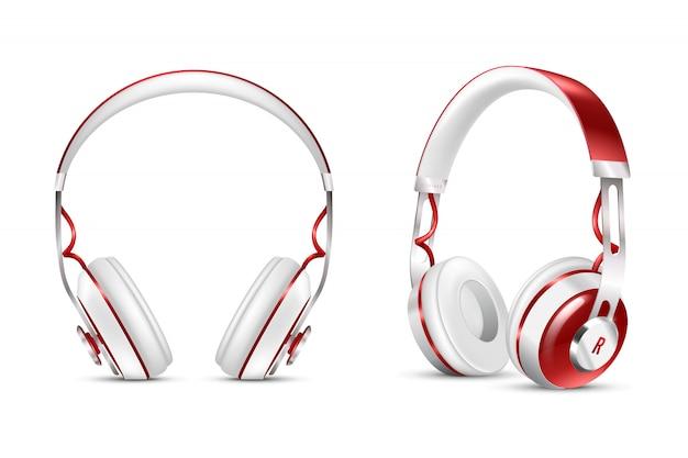 Zestaw realistycznych słuchawek bezprzewodowych