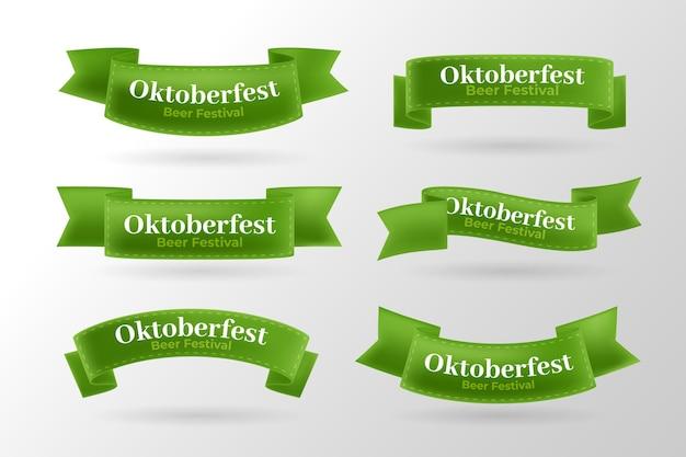 Zestaw realistycznych wstążek oktoberfest