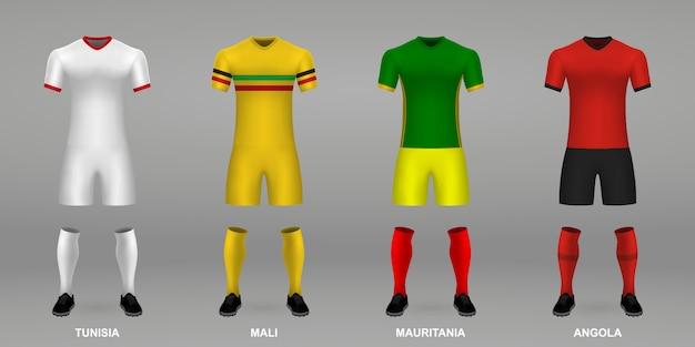 Zestaw realistycznych zestawów piłkarskich