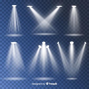 Zestaw reflektorów teatralnych