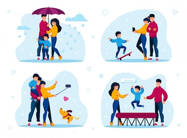 Zestaw relacji rodzinnych i czas razem