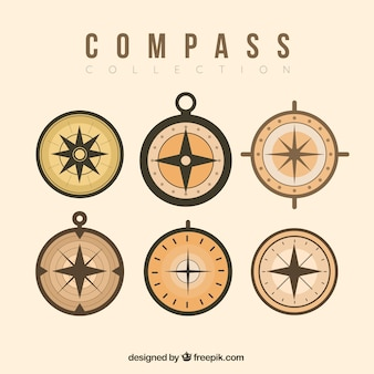 Zestaw retro kompas