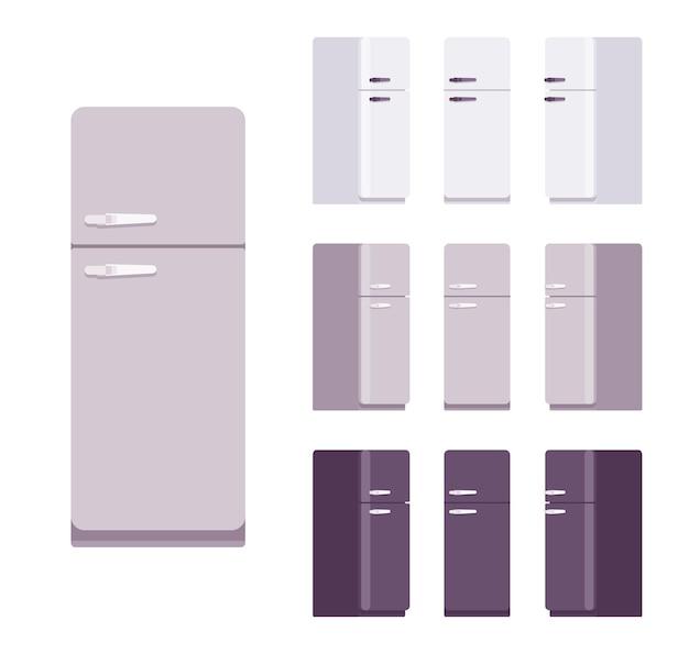 Zestaw retro lodówki, wyposażenie kuchni