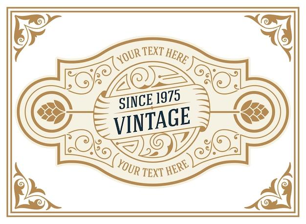 Zestaw retro vintage logotypy lub insygnia.