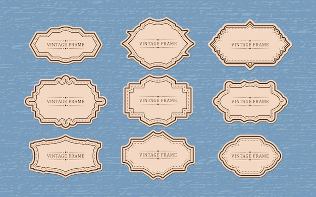 Zestaw retro vintage odznak i etykiet