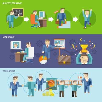 Zestaw roboczy biznesmen