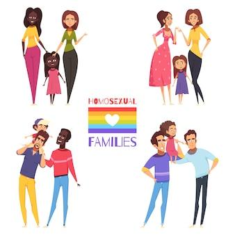 Zestaw rodzin homoseksualnych