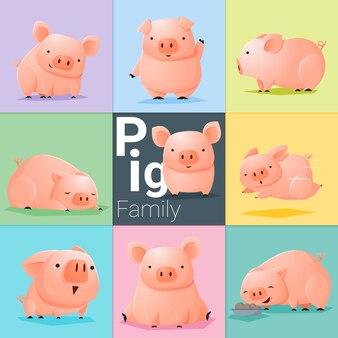 Zestaw rodziny pig