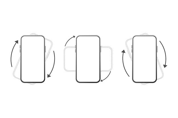 Zestaw rotacji smartfona