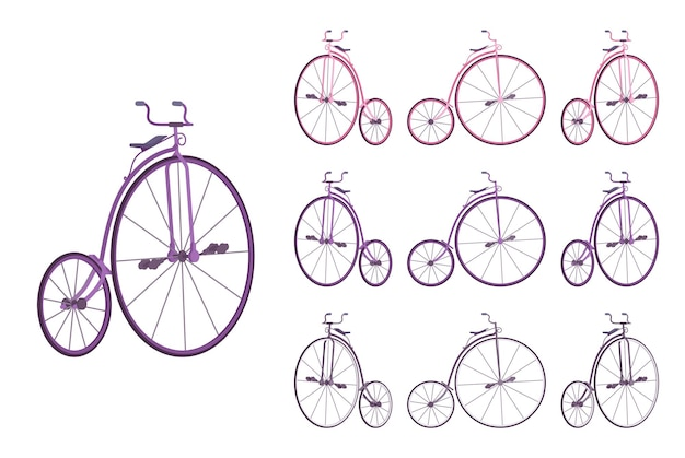 Zestaw rowerów groszowych