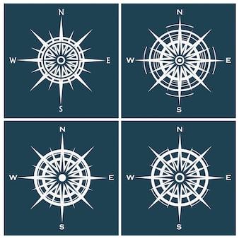 Zestaw róż lub wiatrów kompasu