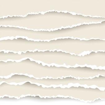 Zestaw rozdarty z papieru