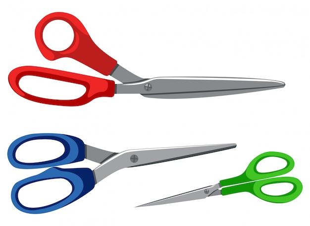 Zestaw różnych nożyczek